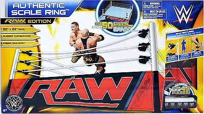 """WWE AUTHENTIC SCALE RING Raw Edition for 6"""" figures 22"""" x 22""""! wwf real NEW!"""