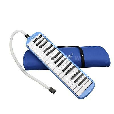 32 Piano Keys Melodica Musical Instrument for Beginners Gift with Bag Blue X6L2