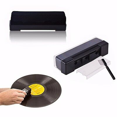 New Black Record Cleaning Kit Velvet Brush Stylus Cleaner Anti Dirt Dust Brush