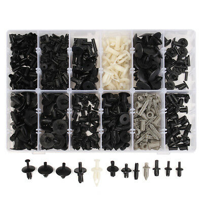 350pc Car Automotive Push Pin Rivet Trim Clip Panel Body Interior Assortment