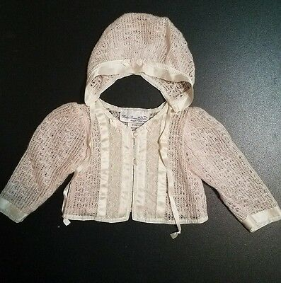 NWT BABY BEAU & BELLE  Sweet  Light  Pink Knit Sweater and Bonnet Set 9 Months