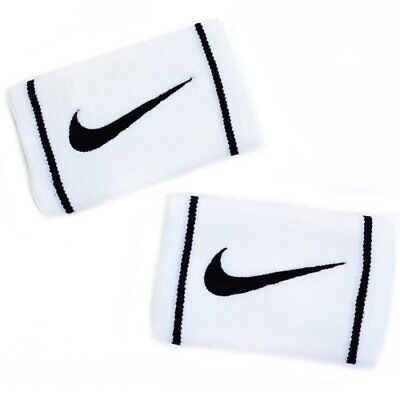 NIKE Dri-Fit Doublewide Wristbands Size: 13.3cm x 8.5cm , White x Black