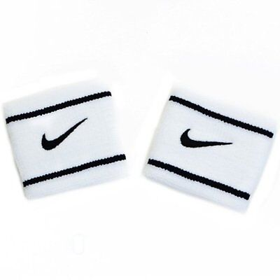 NIKE Dri-Fit Wristbands Size: 7.5cm x 7cm , White x Black