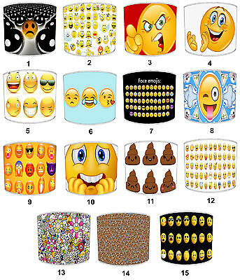 Smiley Faces Lampshades Ideal To Match Emoji Wall Decals Sticker Emoji Wallpaper