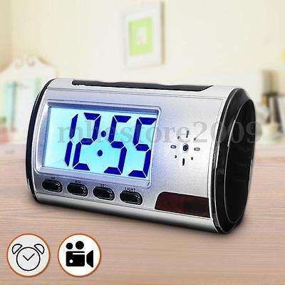 Mini Hidden Spy Camera Cam Alarm Clock Motion Detection Security Video Recorder