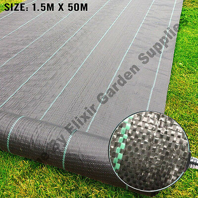 Landscape Fabric Weed Control Woven Porous Ground Cover   1.5m x 50m