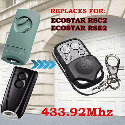 Garage Gate Door Remote Control 433.92MHz For Ecostar RSC2 RSE2 Portronic D5000