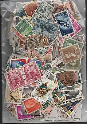 Spain Kiloware off paper 50gms fine used excellent selection 150+ stamps