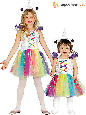 Girls Unicorn Costume Child Baby Toddler Fantasy Fancy Dress Fairytale Outfit