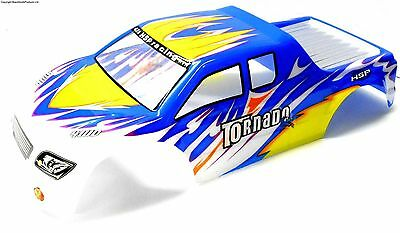 08309 1/8 Scale RC Nitro Monster Truck Body Shell Cover Navy Blue White Cut