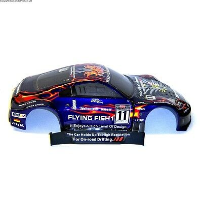 12309 1/10 Scale Drift Touring Car Body Cover Shell RC Purple V2 Cut