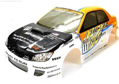 12341 1/10 Scale Drift Touring Car Body Cover Shell RC Orange Cut