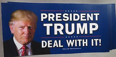 Wholesale Lot Of 10 President Trump Deal With It Stickers 45Th Usa Anti Liberal