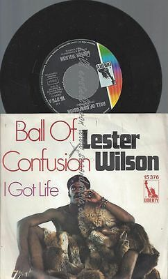 """7"""" Lester Wilson Ball Of Confusion"""