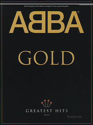 ABBA Gold Greatest Hits Piano Vocal Guitar Sheet Music Book
