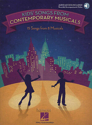 Kids Songs from Contemporary Musicals Vocal Music Book/DLC