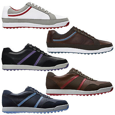 Footjoy Mens Contour Casual Spikeless Golf Shoes - Waterproof Leather New 2015