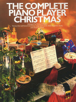 The Complete Piano Player Christmas Sheet Music Book Kenneth Baker