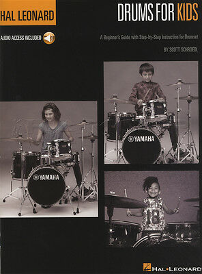Drums for Kids Hal Leonard Method Sheet Music Book with Audio Learn How To Play
