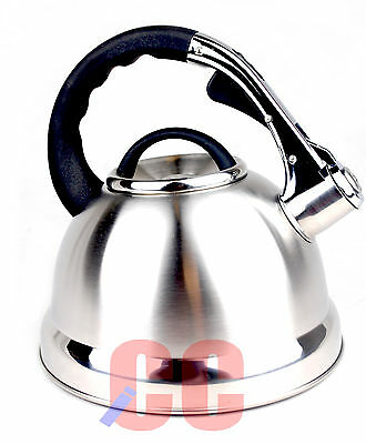 Whistling Stainless Steel Kettle 3.5Ltr largest silver chrome GAS HOB STOVE