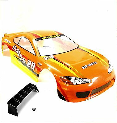 76691 1/8 Scale RC Nitro On Road Body Cover Shell Orange 300mm