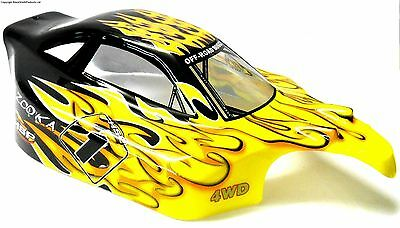81338 Off Road Nitro RC 1/8 Scale Buggy Body Shell Cover Flame V2