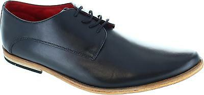 Base Cash Men's Black Formal Pointed Toe Lace Up Leather Derby Shoes New