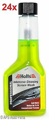 Holts One Shot Screenwash Fresh Lemon Cleaning Concentrate 24 x125ml 5L Autocare