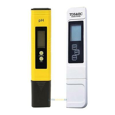 Digital PH Meter+LCD TDS EC Water Purity PPM Filter Hydroponic Pool Tester Pen #