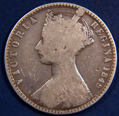 """1849 Victoria """"Godless"""" Silver 925 Florin Two Shilling coin nice [3542]"""