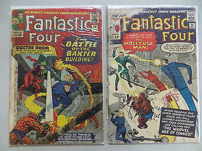 Fantastic Four 2 Issue Silver Comic Lot # 20 40 Marvel Kirby