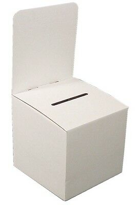 My Charity Boxes - Pack of 10 Large Cardboard Ballot, Suggestion, Vote Boxes NEW