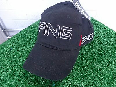 Ping Golf Unstructured Cotton Golf Hat Cap Black & Red i20 Series NEW Adjustable