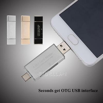 5in1 USB-C Type C/USB 3.1/Micro USB/OTG TF SD Card Reader for Macbook Phone PC