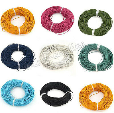 Solid Faux Leather Cord PU Thread Wire String Rope Ribbon Bracelet Making 2mm