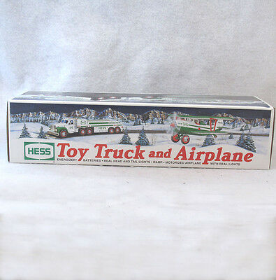 Hess Toy Truck and Airplane New In Original Box 2002