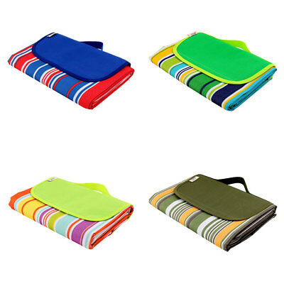 Outdoor Camping Nylon Stripe Pattern Moisture Resistant Picnic Mat 145 x 180cm