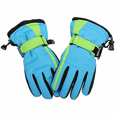 Kids Boys Sports Ski Riding Snow Snowboard Waterproof 3M Thinsulate Glove
