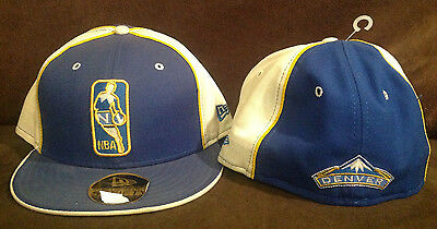 low priced 2004c bcddb Denver Nuggets NEW ERA 59FIFTY Fitted Hat NBA Alternate Logo Throwback Sz 7  1