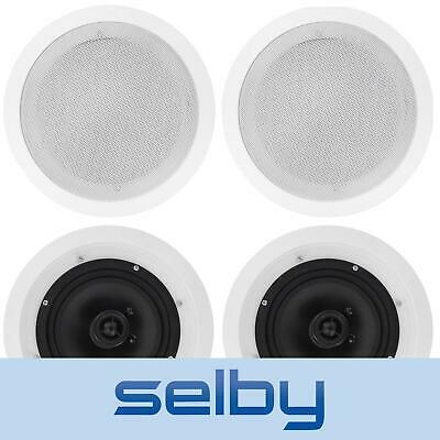 "4 x 8"" In Ceiling Speakers 150W for Home Theatre Stereo Outdoor Multi Room"