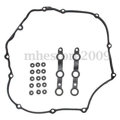 Engine Valve Cover Gasket Set + 15 Valve Cover Washer For BMW E39 E46 E53 E60