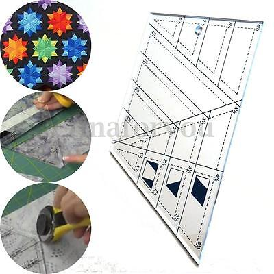 DIY Quilting Sewing Patchwork Scale Ruler Trapezoid Polygon Foot Ladder Tailor