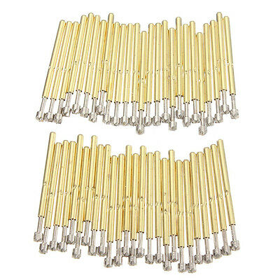 50pcs P75-LM2 Dia. 1.02mm Spring Loaded Test Probes Pogo Receptacle Pin Tool Set