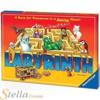 Ravensburger Labyrinth Maze Treasure Race Kids Family Board Game
