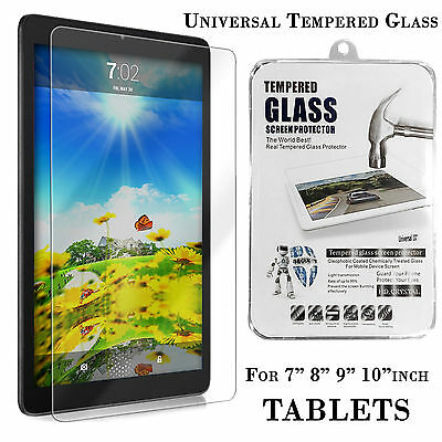 "Universal Gorilla Tempered Glass Screen Protector for 7""-10.1"" Inch Tablets PCs"