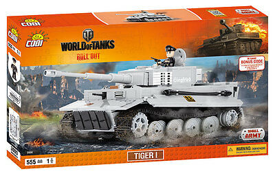 COBI 3000 - WORLD OF TANKS - Dt. PZKPFW VI TIGER AUSF. E - NEU