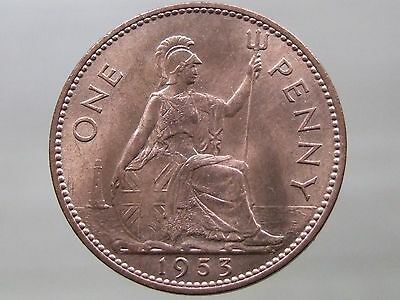 1953 Penny - RARE Date - Stunning Brilliant Uncirculated - FREE POSTAGE (A42)