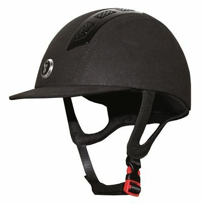 GATEHOUSE CHELSEA AIR FLOW PRO SUEDETTE BLACK horse rider safety padded helmet