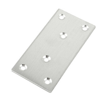 Furniture Stainless Steel Rectangle Shape Flat Repair Fixing Plate Angle Bracket