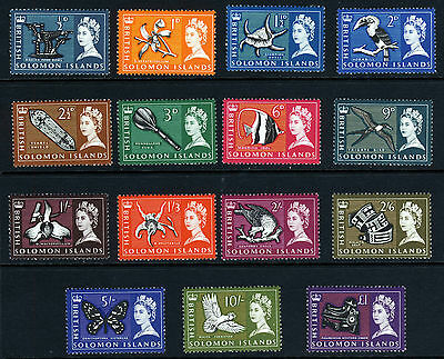 BRITISH SOLOMON ISLANDS QE II 1965 The Complete Set SG 112 to SG 126 MNH